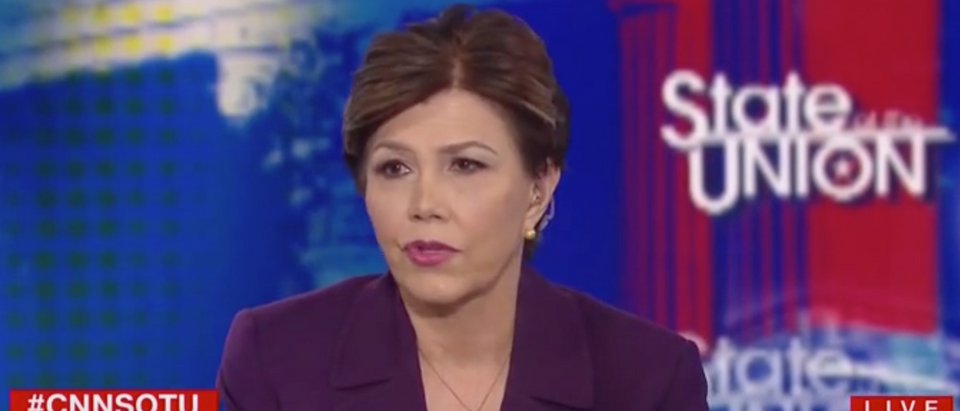 """Linda Chavez appears on """"State of the Union"""" to discuss impeachment. Screen Shot/CNN"""