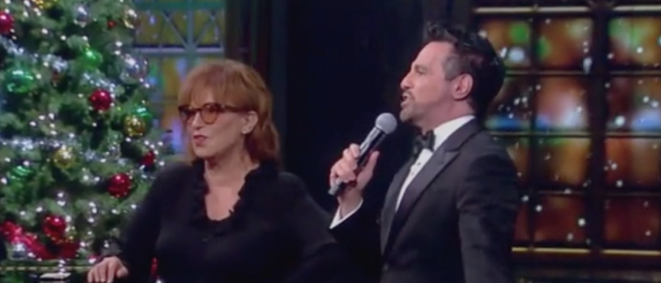 "Mario Cantone joins Joy Behar on ""The View."" Screen Shot/ABC"