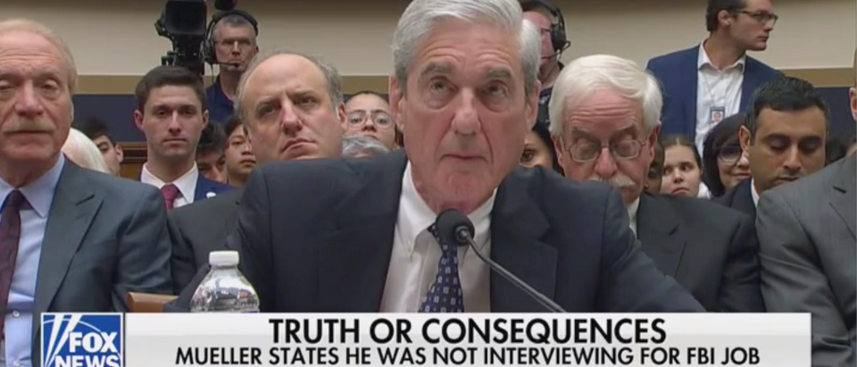 Robert Mueller testifies before Congress. Screen Shot/Fox News
