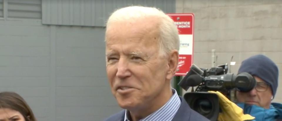 Joe Biden addresses reporters in Ohio. Screen Shot/Facebook/NBC4