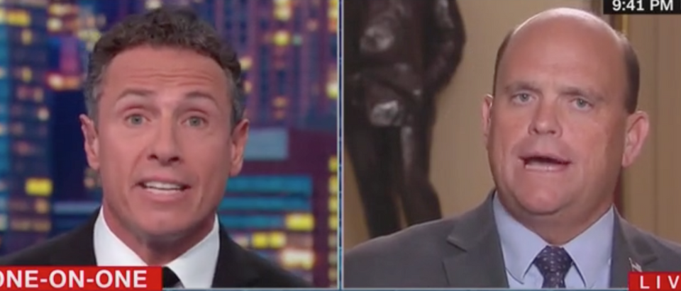 Chris Cuomo discusses Syria with GOP Rep Tom Reed. Screen Shot/CNN