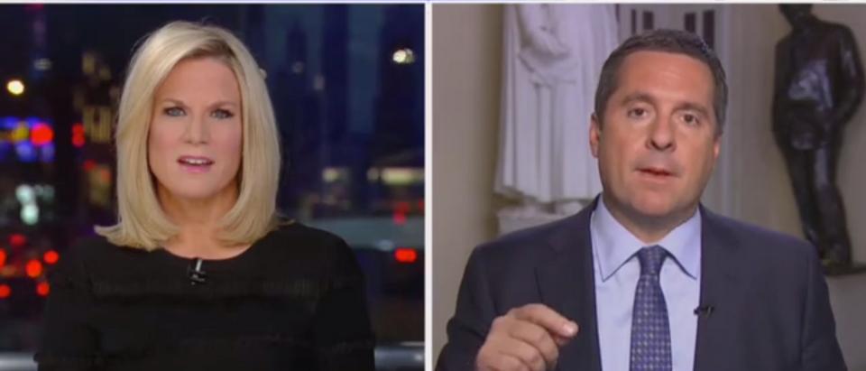 "Devin Nunes appears on ""The Story"" with Martha MacCallum. Screen Shot/Fox News"