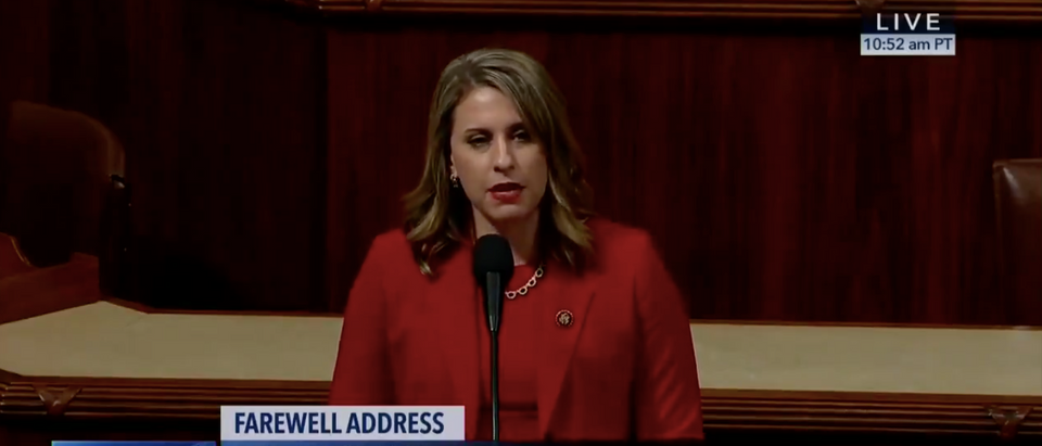 Rep. Katie Hill delivers her final speech as a member of congress/C-SPAN screenshot