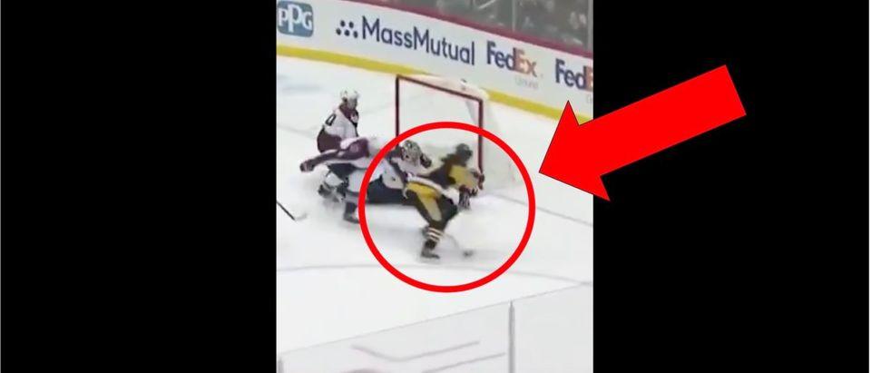 Sidney Crosby (Credit: Screenshot/Twitter Video https://twitter.com/nhlonnbcsports/status/1184617541345468417?s=21)