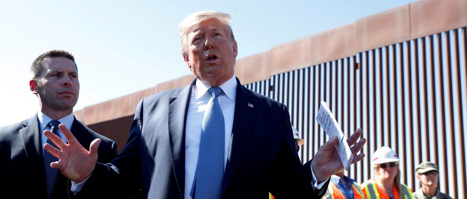 FILE PHOTO: U.S. President Trump visits a section of the U.S.-Mexico border wall in Otay Mesa