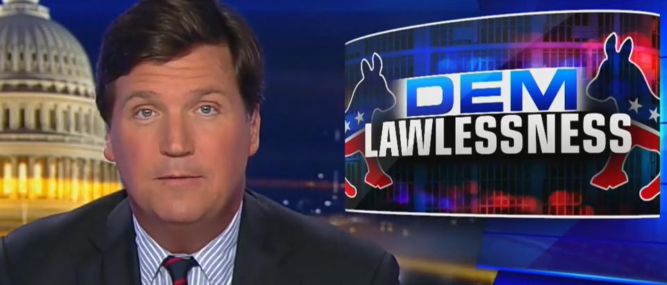 Tucker Carlson describes an America under Democrats (Fox News screengrab)