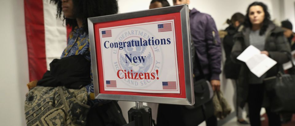 "Family Members Congratulate New Citizens As President Trump's Immigration Policy Targets ""Chain Migration"""