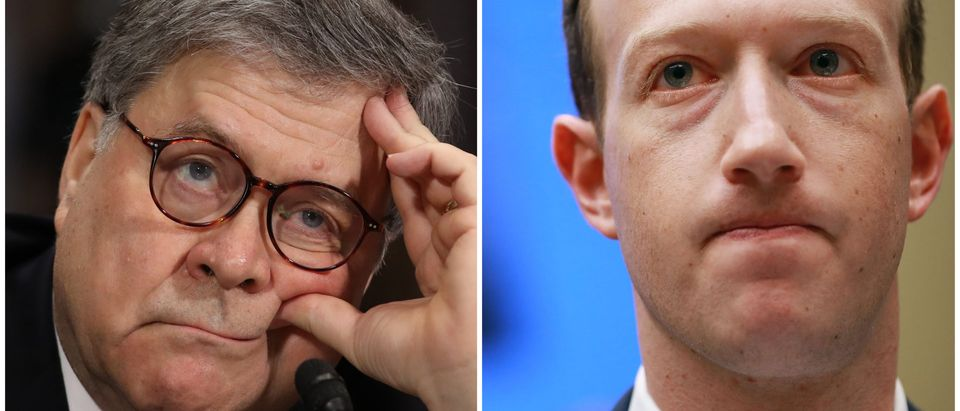 Barr and Zuckerberg side-by-side/ Getty Images collage