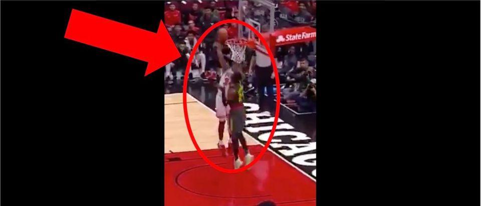 Wendell Carter Dunk (Credit: Screenshot/Twitter Video https://twitter.com/NBATV/status/1184990980862177282)