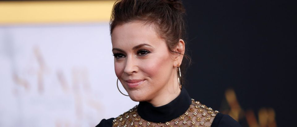"Alyssa Milano arrives for the premiere of the movie ""A Star Is Born"" in Los Angeles, California, U.S. September 24, 2018. REUTERS/Mario Anzuoni"