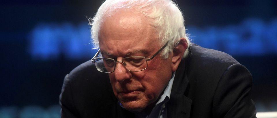 FILE PHOTO: Democratic Presidential candidate U.S. Senator Bernie Sanders (D-VT) addresses attendees during the AFL-CIO Workers Presidential Summit in Philadelphia