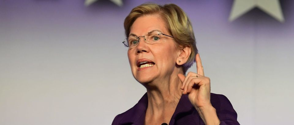 Democratic Presidential hopeful U.S. Sen. from Massachusetts Elizabeth Warren is pictured. (FREDERIC J. BROWN/AFP via Getty Images)