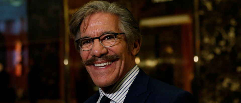 Geraldo Rivera smiles at the media after meeting with U.S.President-elect Donald Trump at Trump Tower in New York, U.S., January 13, 2017. REUTERS/Shannon Stapleton