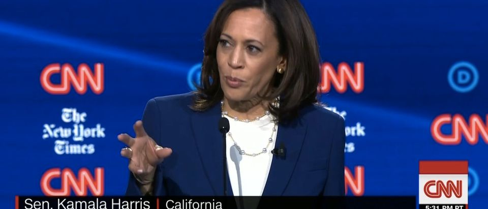 Sen. Kamala Harris calls out Demcorats on abortion. (Screenshot/CNN)