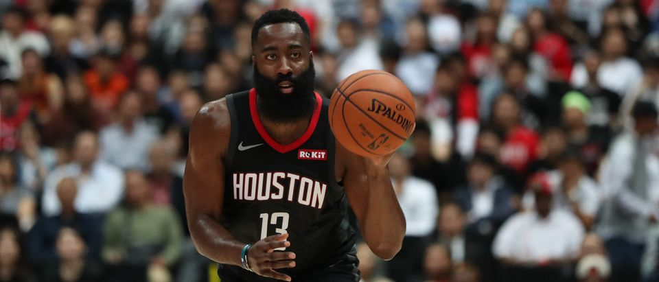 James Harden #13 of Houston Rockets is pictured. (Takashi Aoyama/Getty Images)