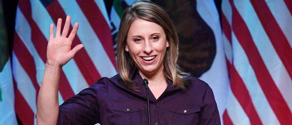 Democrat Katie Hill (MARK RALSTON/AFP/Getty Images)
