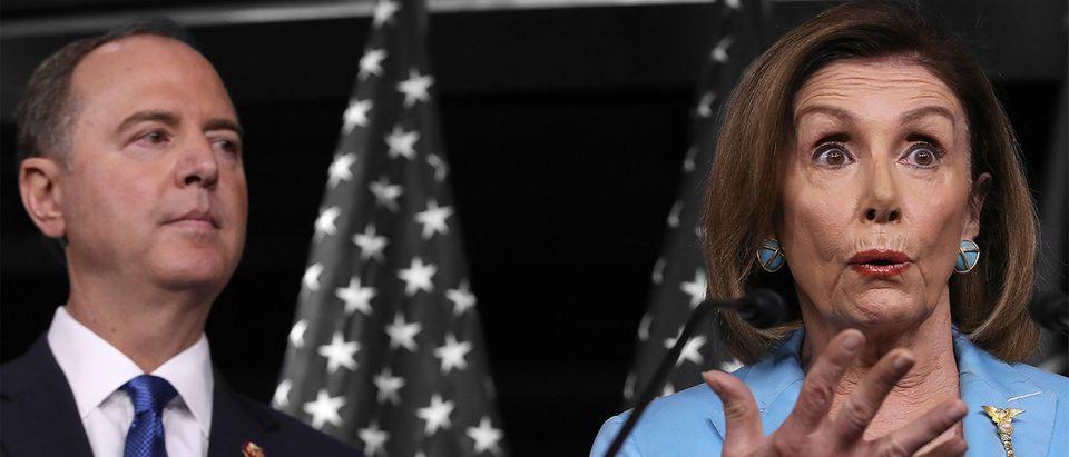 Adam Schiff, Nancy Pelosi (Getty Images, Daily Caller)