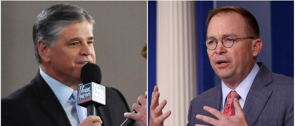 Left: Sean Hannity (Getty Images), Right: Mick Mulvaney (Getty Images)