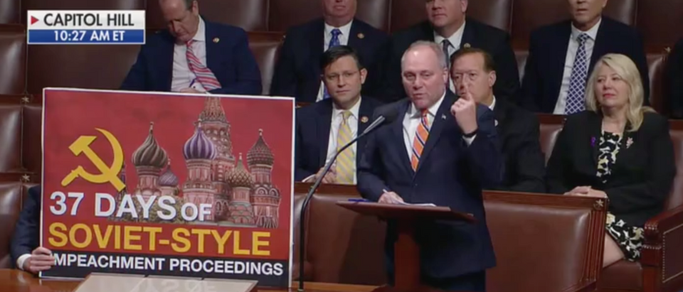 Republican Louisiana Rep. Steve Scalise addresses impeachment resolution. Screen Shot/Fox News