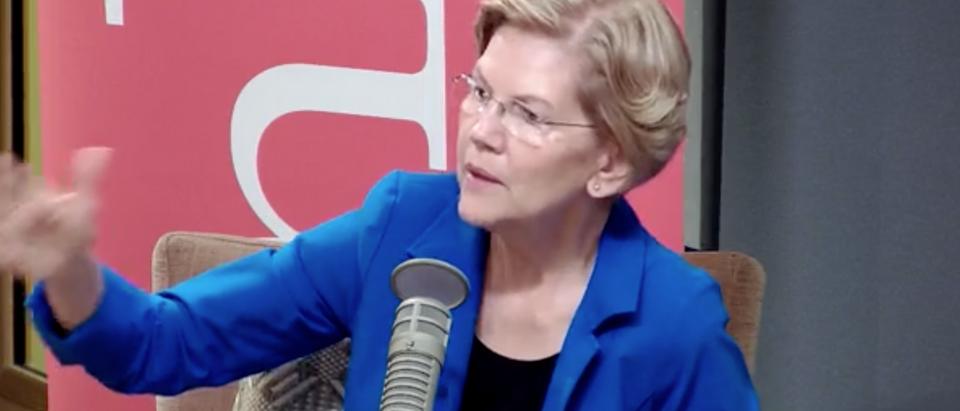 Democratic Massachusetts Sen. Elizabeth Warren participates in New Hampshire Public Radio candidate forum. Screen Shot/Facebook/New Hampshire Public Radio