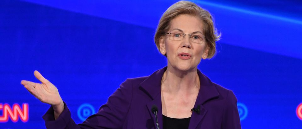 Democratic presidential hopeful Massachusetts Sen. Elizabeth Warren is pictured. (SAUL LOEB/AFP via Getty Images)