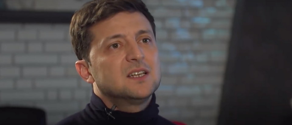 Ukrainian presidential candidate Volodymyr Zelensky speaks with the BBC. Screen Shot/BBC
