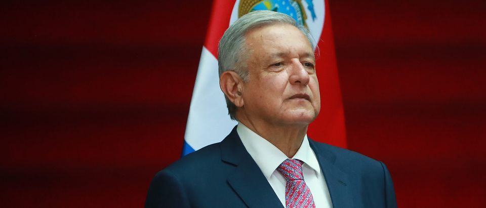 Andres Manuel Lopez Obrador, president of Mexico, poses during a state visit to Mexico at Palacio Nacional on Oct. 21, 2019 in Mexico City, Mexico. (Photo by Hector Vivas/Getty Images)
