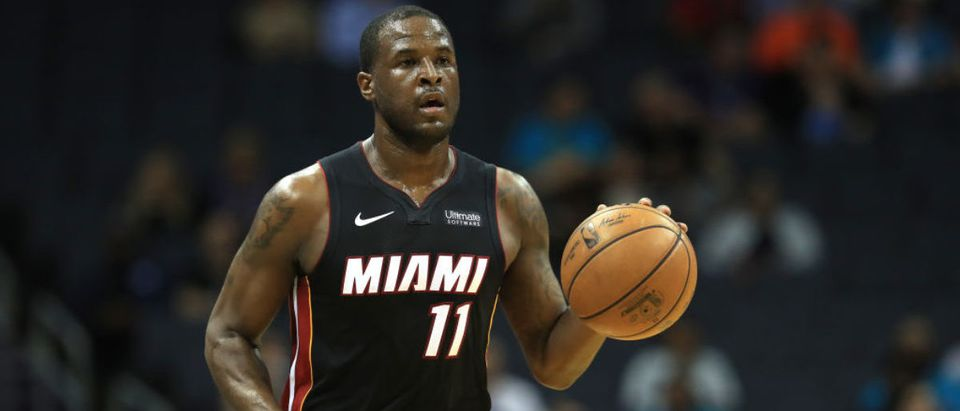 CHARLOTTE, NORTH CAROLINA - OCTOBER 09: Dion Waiters #11 of the Miami Heat brings the ball up the court against the Charlotte Hornets during their game at Spectrum Center on October 09, 2019 in Charlotte, North Carolina. (Photo by Streeter Lecka/Getty Images)