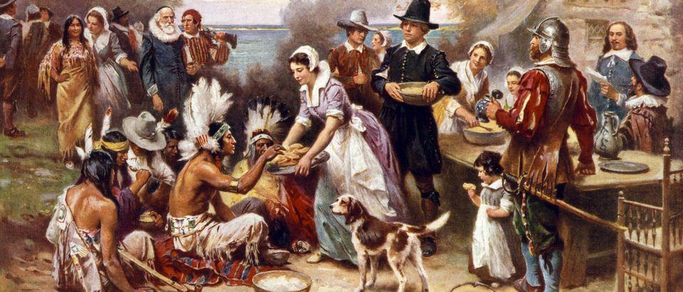 First Thanksgiving. Everett Historical, Shutterstock
