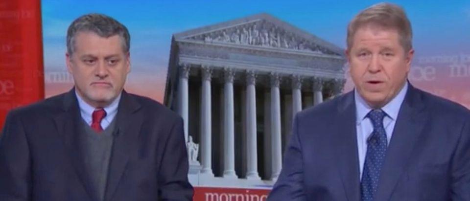 "Fusion GPS founders Glenn Simpson and Peter Fritsch on MSNBC's ""Morning Joe,"" Nov. 26, 2019. (YouTube capture/MSNBC)"