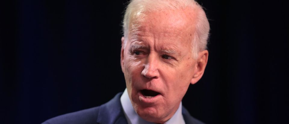 Former Vice President Joe Biden speaks to guests at the United Food and Commercial Workers' (UFCW) 2020 presidential candidate forum on October 13, 2019. (Scott Olson/Getty Images)