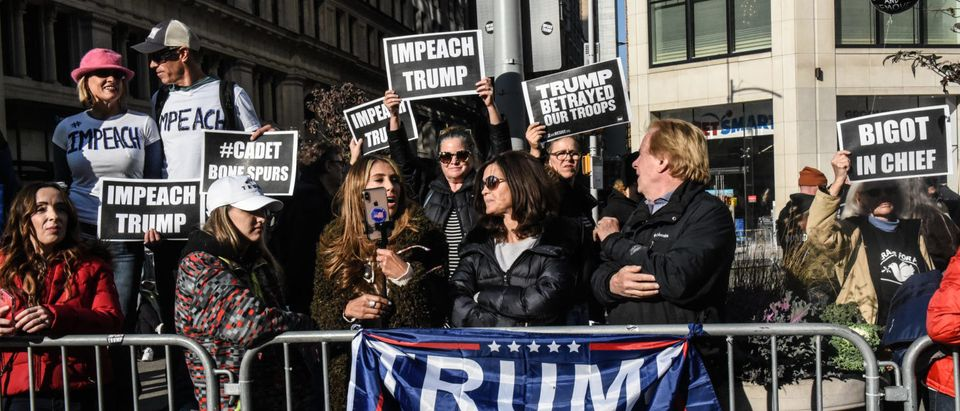 President Trump Attends New York City's Veterans Day Parade, Drawing Protesters