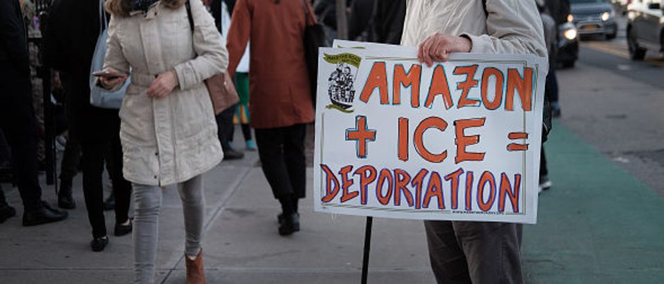 Immigration Activists Call On Amazon To Cut Ties With ICE