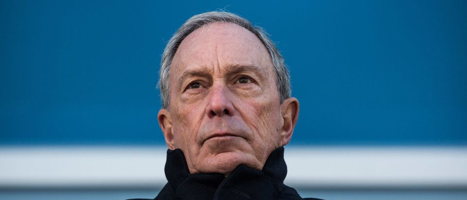 NEW YORK, NY - NOVEMBER 13: Outgoing Mayor of New York City Michael Bloomberg speaks at the opening ceremony of Four World Trade Center, the first tower to open at the original site of the World Trade Center, on November 13, 2013 in New York City. The building was designed by Fumihiko Maki, has 72 floors, is 978 feet tall and offers 2,500,000 square feet of space. (Photo by Andrew Burton/Getty Images)