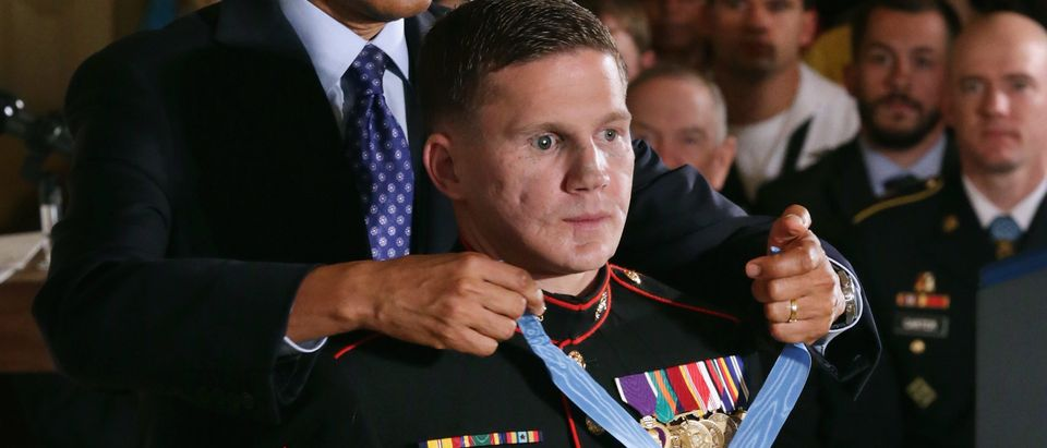 President Obama Awards Medal Of Honor To Marine William Kyle Carpenter