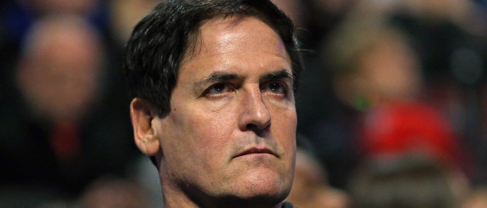 Owner Mark Cuban of the Dallas Mavericks watces as his team takes on the Chicago Bulls at the United Center on January 15, 2016 in Chicago, Illinois. (Jonathan Daniel/Getty Images)