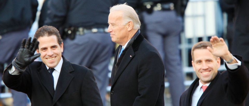 Vice President Joe Biden and sons Hunter Biden (L) and Beau Biden walk in the Inaugural Parade Jan. 20, 2009 in Washington, D.C. (David McNew/Getty Images)