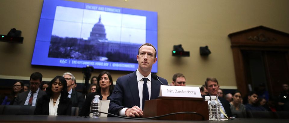 Facebook co-founder, Chairman and CEO Mark Zuckerberg testifies before the House Energy and Commerce Committee in the Rayburn House Office Building on Capitol Hill April 11, 2018 in Washington, DC. / Chip Somodevilla/Getty Images