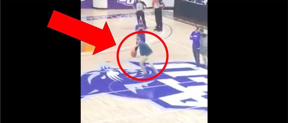 Half-Court Shot Attempt (Credit: Screenshot/Twitter Video https://twitter.com/ACUsports/status/1191928769377910789)