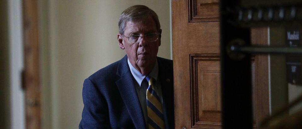 U.S. Sen. Johnny Isakson is seen at the Capitol Sept. 28, 2016 in Washington, D.C. (Photo by Alex Wong/Getty Images)