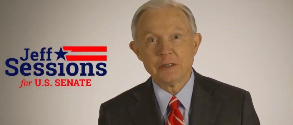 Jeff Sessions in his first Senate campaign ad (YouTube screen capture)