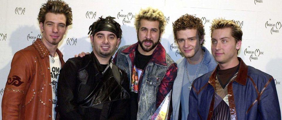 (L to R) J.C. Chasez, Chris Kirkpatrick, Joey Fat