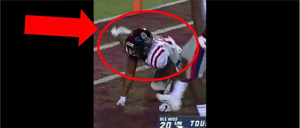 Ole Miss (Credit: Screenshot/Twitter Video https://twitter.com/sds/status/1200259976738037760?s=21)