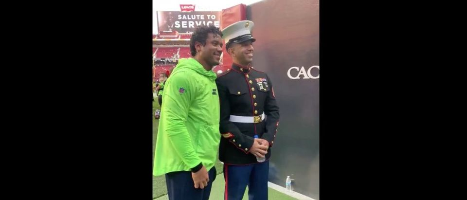 Russell Wilson (Credit: Screenshot/Twitter Video https://twitter.com/nfl/status/1194052041489780736?s=21)
