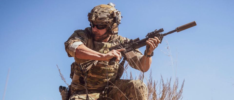 """Danger Crossing"" -- While Jason is sidelined with an injury, Ray takes over as Bravo 1 and leads the team on a mission to rescue a marine pilot who was shot down in enemy territory, on SEAL TEAM, Wednesday, Nov. 27 (9:01-10:00 PM, ET/PT) on the CBS Television Network. Pictured: Max Thieriot as Clay Spenser. Photo: Erik Voake/CBS 2019 CBS Broadcasting, Inc. All Rights Reserved."