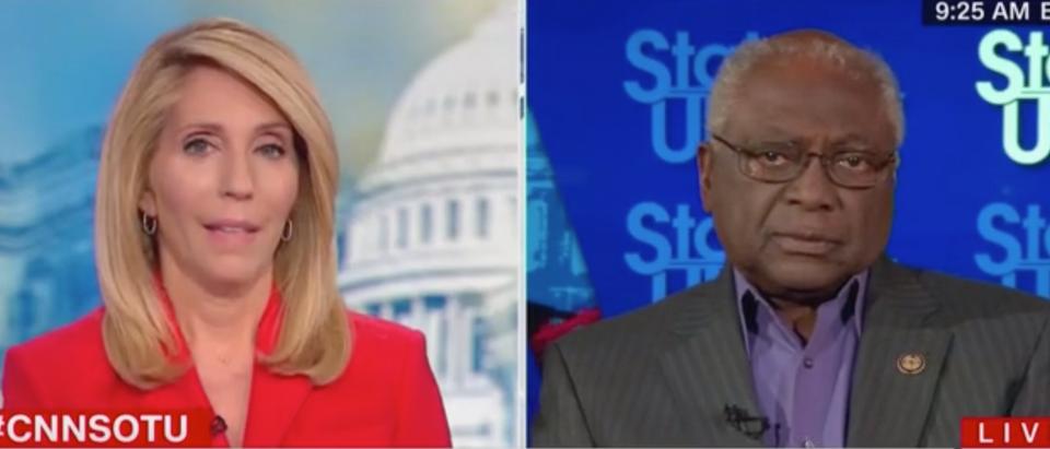 Dana Bash discusses impeachment with SC Rep. James Clyburn. Screen Shot/CNN
