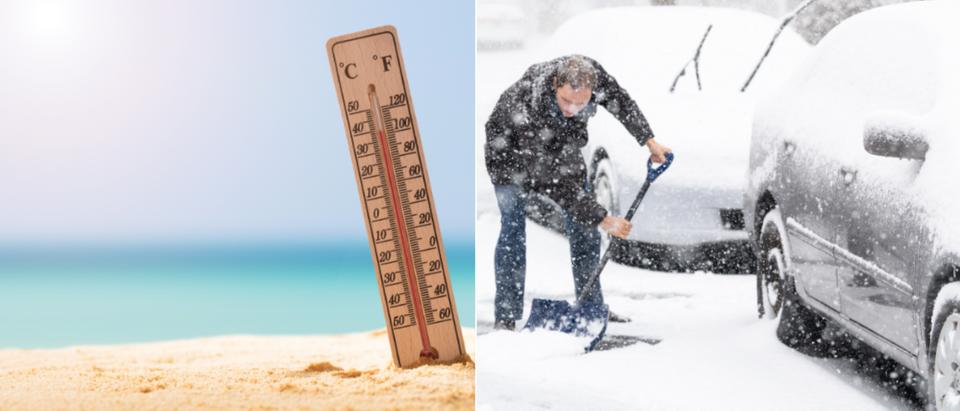 Hot and Cold. (Shutterstock/Andriy Blokhin, Andrey_Popov)