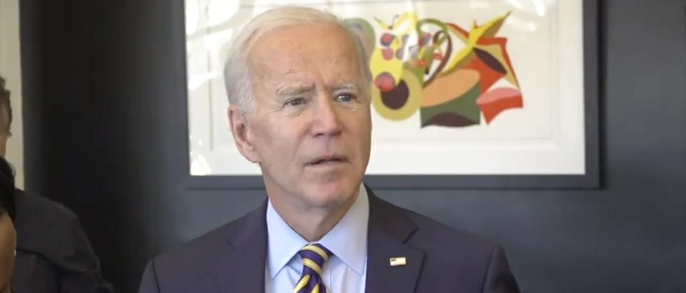 Joe Biden refuses to answer questions about Hunter Biden's new son. (Screenshot Fox News)