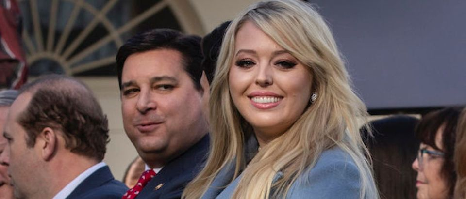 Tiffany Trump, youngest daughter of U.S. President Donald Trump, attends the National Thanksgiving Turkey pardoning event in the Rose Garden of the White House November 26, 2019 in Washington, DC. The turkey pardon was made official in 1989 under former President George H.W. Bush, who was continuing an informal tradition started by President Harry Truman in 1947. Following the presidential pardon, the 47-pound turkey which was raised by farmer Wellie Jackson of Clinton, North Carolina, will reside at his new home, 'Gobbler's Rest,' at Virginia Tech. (Photo by Drew Angerer/Getty Images)