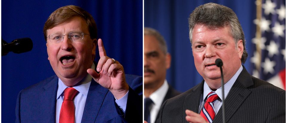 Tate Reeves and Jim Good are pictured side-by-side. Getty Images